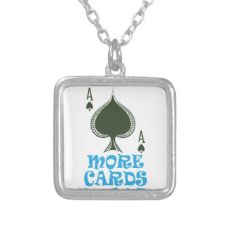 Play More Cards Day - Appreciation Day Silver Plated Necklace