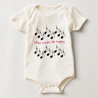 Play Music Be Happy Baby Bodysuit
