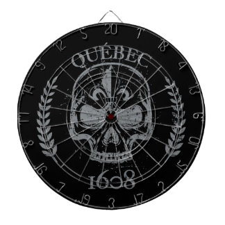 Play of dart grunge Quebec skull/skull biker black Dartboard