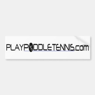 Play Paddle Tennis Bumper Sticker