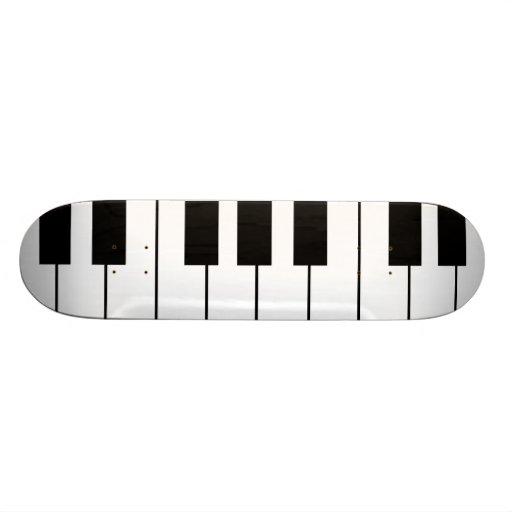 play piano music custom skate board