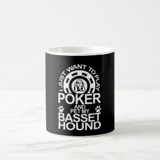 Play Poker And Pet My Basset Hound Dog Coffee Mug