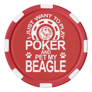 Play Poker And Pet My Beagle Dog Poker Chips