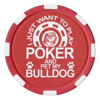 Play Poker And Pet My Bulldog Poker Chips