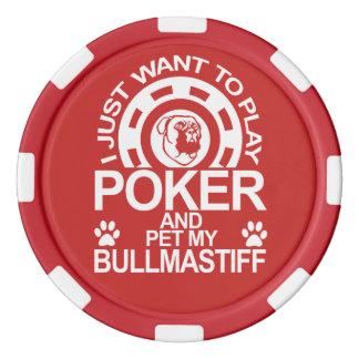 Play Poker And Pet My Bullmastiff Dog Poker Chips