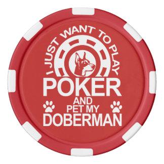 Play Poker And Pet My Doberman Poker Chips