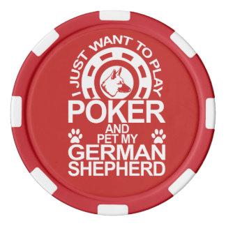 Play Poker And Pet My German Shepherd Dog Poker Chip Set