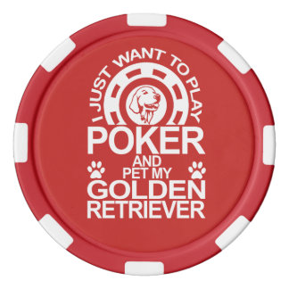 Play Poker And Pet My Golden Retriever Dog Poker Chips