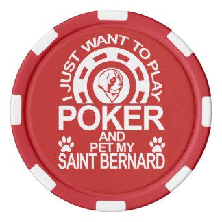 Play Poker And Pet My Saint Bernard Dog Poker Chips