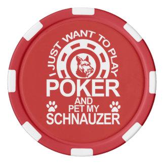 Play Poker And Pet My Schnauzer Dog Poker Chips