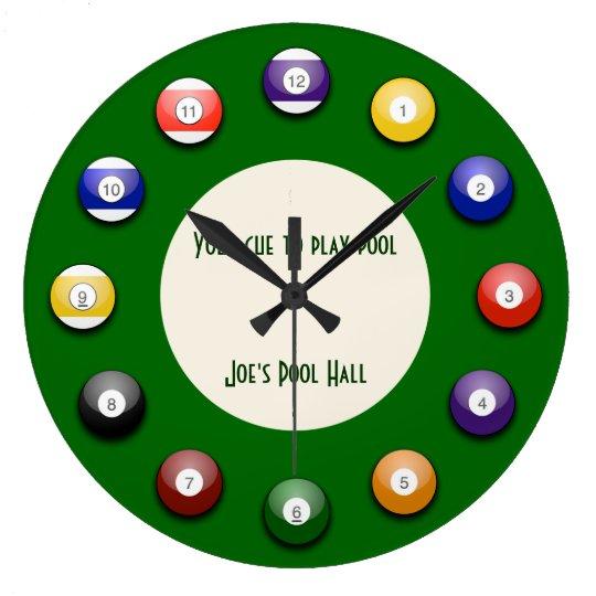 Play Pool - A Pool Ball Wall Clock