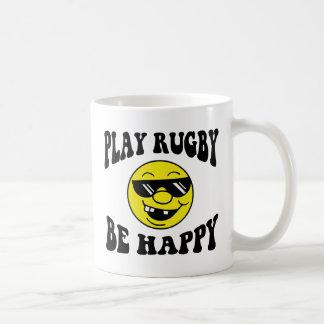 Play Rugby Be Happy Classic White Coffee Mug