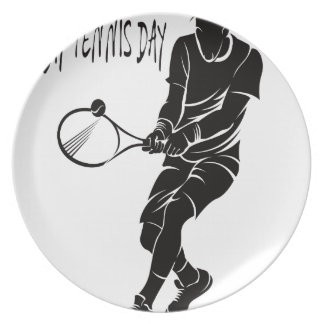 Play Tennis Day - Appreciation Day Dinner Plate