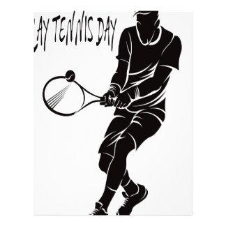 Play Tennis Day - Appreciation Day Letterhead