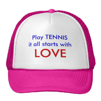 Play TENNISit all starts with, LOVE Trucker Hat
