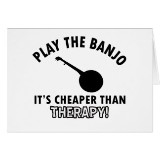 Play the Banjo Card