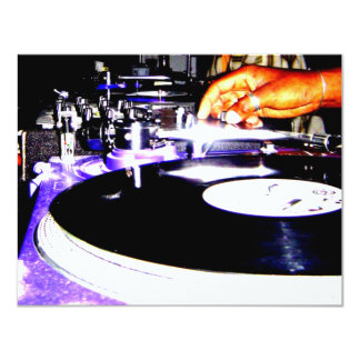Play the Record 4.25x5.5 Paper Invitation Card