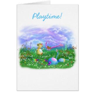 Play Time at Twisty Twicks Garden! Greeting Card