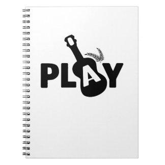 Play Ukulele Uke Music Lover Gift Funny Notebook