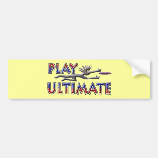 Play Ultimate Bumper Sticker