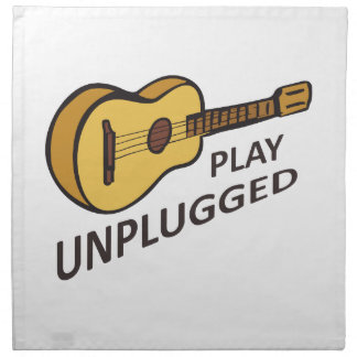 PLAY UNPLUGGED PRINTED NAPKINS