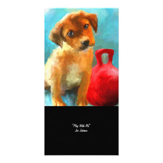 Play With Me puppy Collectible Photo Card