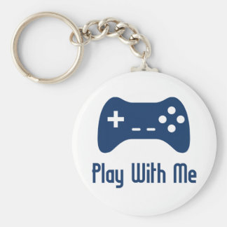 Play With Me Video Game Basic Round Button Keychain