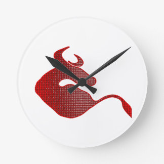 Play with the Bull Round Clock