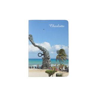 Playa del Carmen Caribbean Mexico Beach Scene Passport Holder