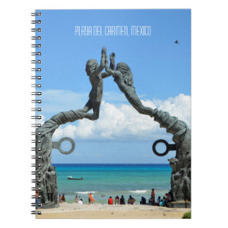 Playa del Carmen Caribbean Ocean Beach Scene Notebooks