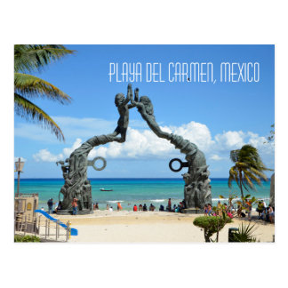 Playa del Carmen Caribbean Sea Beach Scene Postcard