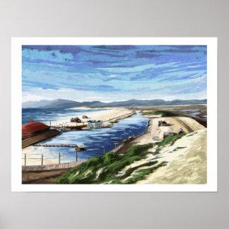 Playa del Rey Lagoon. Watercolor by Jenn Street Poster