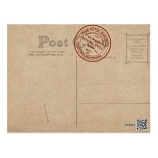 Playa del Rey Post Office Double-Vintage Postcard