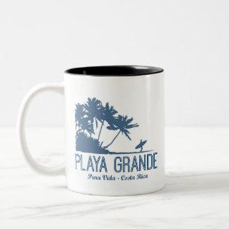 Playa Grande Costa Rica Surfers Beach Two-Tone Coffee Mug