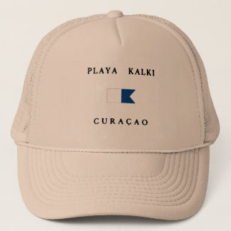 Playa Kalki Curacao Alpha Dive Flag Trucker Hat