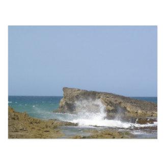 Playa la Poza Arecibo Postcard