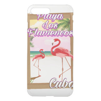 Playa Los Flamencos Cuba travel poster iPhone 8 Plus/7 Plus Case