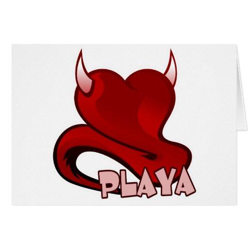 Playa Player Devilish Heart Greeting Card