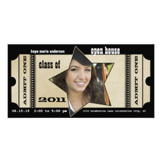 Playbill Senior Pictures Graduation Invitation Personalized Photo Card