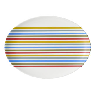 Playbow / 33 cm x 23.5 cm Porcelain Coupe Platter