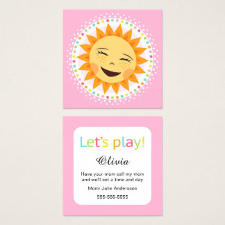Playdate mommy calling cards