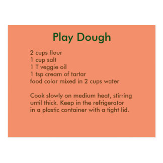 Playdough Recipe Postcard in Autumn Colors