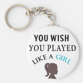 Played Like A Gilr Basic Round Button Keychain