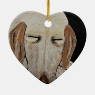 Played Out Ceramic Heart Ornament