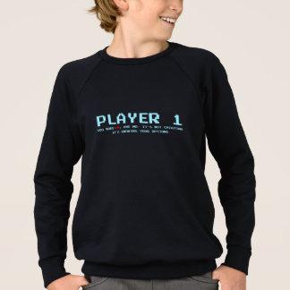 Player 1 Kids' American Apparel Raglan Sweatshirt