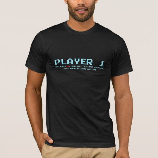 Player 1 Super Soft T-Shirt, Black T-Shirt