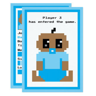Player 3 Entered Game Ethnic Baby Boy Announcement