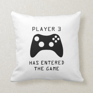 Player 3 Has Entered the Game Video Game Throw Pillow