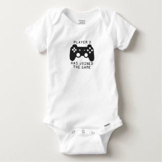 Player 3 has joined the game baby onesie