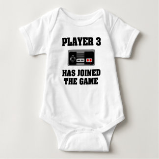 Player 3 has joined the game Funny baby boy shirt